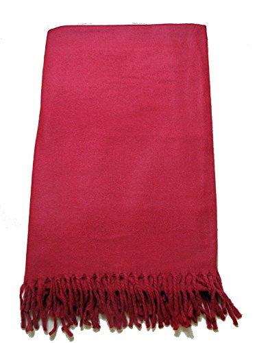 Parijat artisanale en laine Châle de méditation Tibet moines Bordeaux Rouge 100% à partir du Tibet par Châle de Prière, couverture de Bouddh... 24