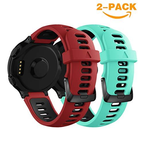 Yayuu Garmin Forerunner Cinturino,Ricambio Sportivo Cinturino Morbido Silicone Cinturino da Polso Fascia per Forerunner 735XT/235/220/230/620/630 Smart Watch
