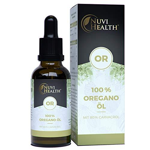 Nuvi Health Oregano Öl - 20 ml = 820 Tropfen - 80% Carvacrol - Laborgeprüft - 100% ätherisches...