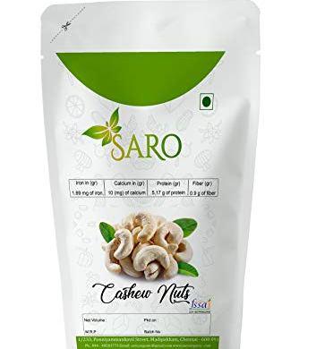 SARO FOODS Premium Cashew Nuts Whole 500G 16