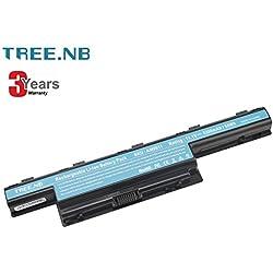 Tree.NB Batería del Ordenador portátil para Acer AS10D31 AS10D51 AS10D61 AS10D71 AS10D73 AS10D75 AS10D81 Aspire 4250 4253 4551 5250 5253 5551 5741 TravelMate 4750 5760 7750 5200mAh 3 años de garantía