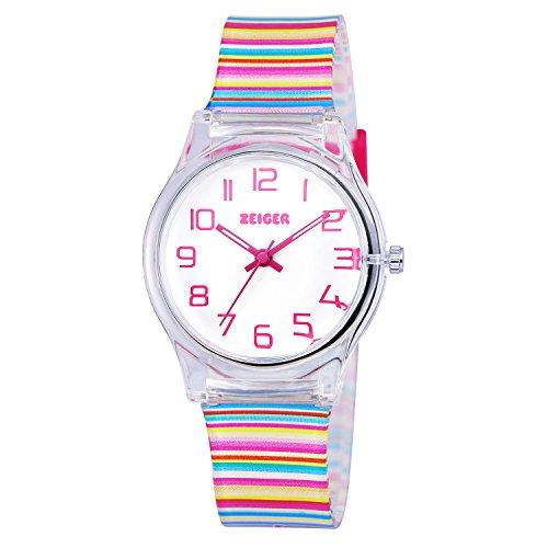 Orologio bambina ragazze Zeiger Orologio impermeabile Time Teacher al quarzo orologi per bambini...