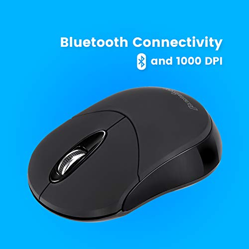 Perixx perimice-802ratón inalámbrico Bluetooth para Windows, Android Tablet y PC-1000dpi-3Button-AES 128bit
