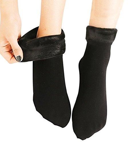 Kyron Fashions Unisex Velvet Socks, Free Size (Black)