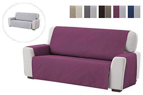 textil-home Salvadivano Trapuntato Copridivano Adele 3 posti Reversibile. Colore Malva