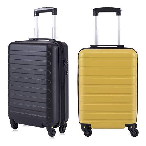 Toctoto Bagaglio a Mano da 2 pezzi Espandibile con Lucchetto TSA (20' 41LT 55x35x20cm + 18' 38LT...