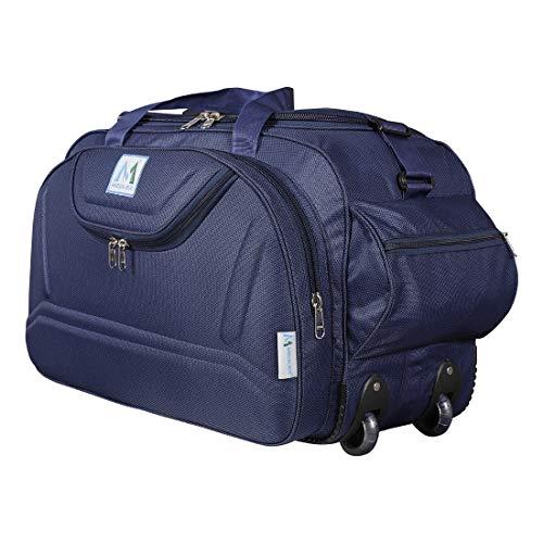 M MEDLER Nylon Expandable Duffel Strolley Bag (Navy)