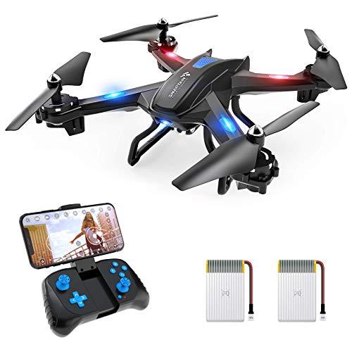 SNAPTAIN S5C Drone WiFi FPV con Videocamera HD 720p, Controllo Vocale, Controllo dei Gesti con G-sensore, Rotazione a 360°, Quadricottero, Decollo / Atterraggio a Un Pulsante, Compatibile con VR