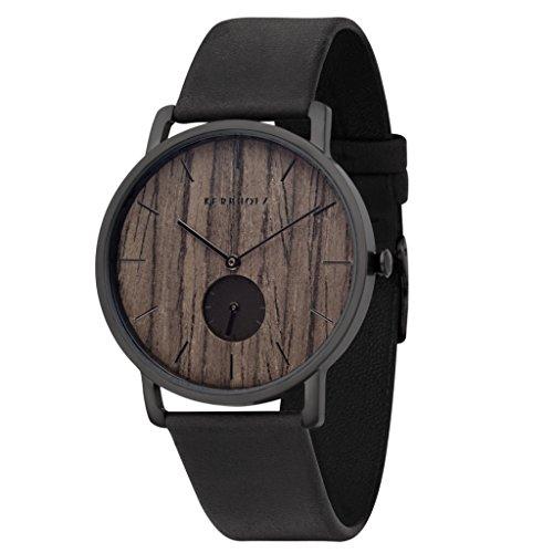 Kerbholz Unisex Erwachsene Chronograph Quarz Uhr mit Leder Armband 4251240404226