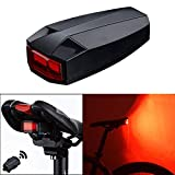 PerGrate Bike Smart Tail Light, 4 in 1 USB Charging IPX5 Waterproof Bicycle Wireless Rear Light Cycling Remote Control Alarm Lock Mountain Bike Bell COB Tailight