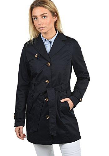 Desires Tessa Giacca Trench Coat Transitorio da Donna con cinturaCollo con Revers, Taglia:XS, Colore:Insignia Blue (1991)
