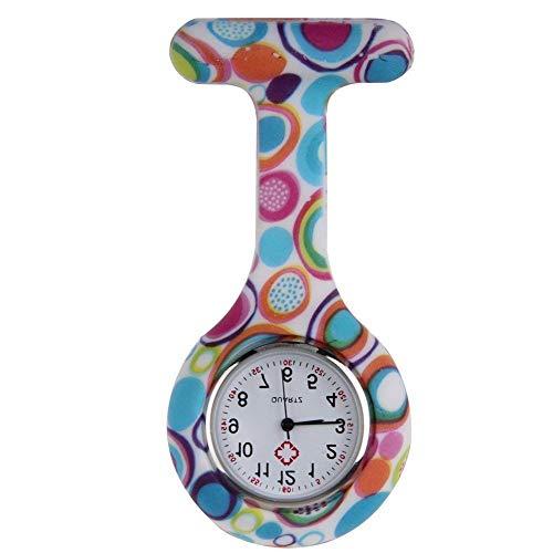 Boolavard TM Orologio da infermiere in silicone con spilla - orologio tascabile modello 2