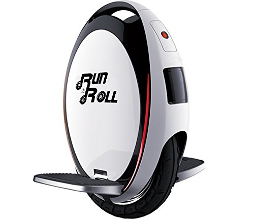 Run & Roll Turbo Spin Advanced–Monocycle, Color Blanc, 12'