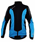 Polaris Fang Long Sleeved Cycling Jersey Kids - Cyan/Black, Large