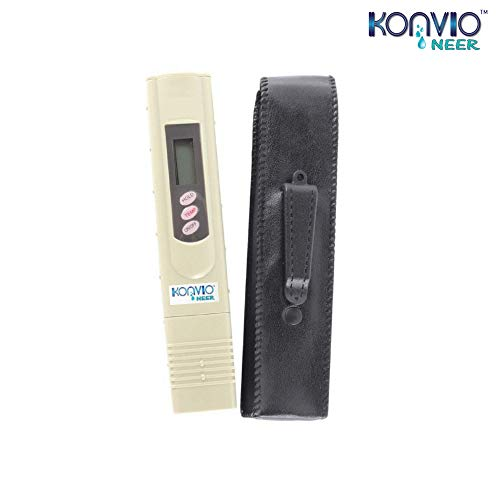 Konvio Neer Imported Tds Meter for ro Water Testing Meter, Digital LCD Tds Meter Waterfilter Tester for Measuring Tds/Temp/Ppm with Carry Case (TDS/Temperature Model)