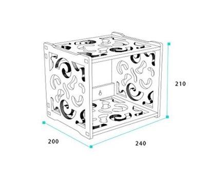JunQi-Punch-Dekoratives-Rahmen-Wandregal-Regal-Wandregal-Kreativer-Haushalt-Seltsam