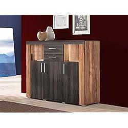 Highboard 594005 Anrichte satin nussbaum / darkwood 120cm