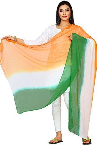 Rani Saahiba Tri Color Chiffon Dupatta