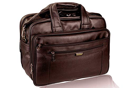 Easies FF 1040 Faux Leather 35L Laptop Messenger Bag (Brown)