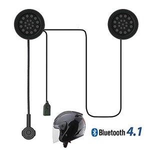 Radioddity Wireless Stereo Motorrad Bluetooth 4.1 Helm-Headset, breite Kompatibilität 8 Stunden Arbeitszeit Fahrradhelm Kopfhörer-Freisprecheinrichtung, Musikanrufsteuerung 6