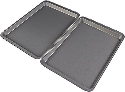 """AmazonBasics - Teglia da forno con rivestimento antiaderente, di tipo """"Half"""" (dimensioni:..."""