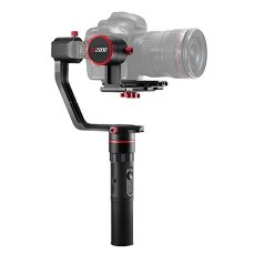 Feiyu a2000 (4pcs Extra Batteries,Bracer and Tripod) 3 Axis Handheld Gimbal Stabilizer 360 Degree Unlimited Rotation for Sony A7RII A7R A5100 NEX-5N NEX-7 Panasonic GH4 GH5 Canon 5D Mark III