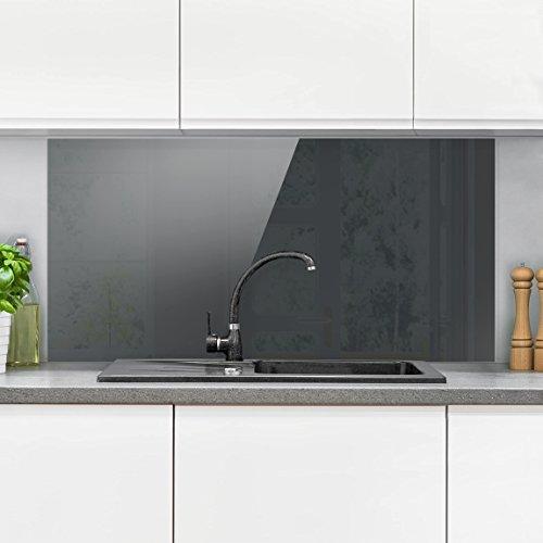 Bilderwelten paraschizzi in vetro heather grey orizzontale 1 2 paraschizzi cucina pannello - Paraschizzi cucina ...