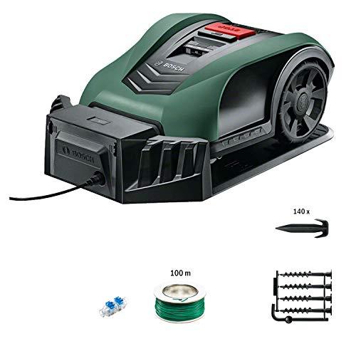 Bosch 06008B0100 Indego S+ 350 Robot Rasaerba, con Funzione App, Larghezza di Taglio 19 cm, per Prati fino a 350 m² di Superficie