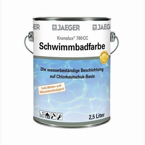 Jaeger Kronalux Schwimmbadfarbe Poolfarbe 2,5 Liter Farbe: capriblau