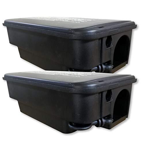 2 scatole di esca robusti per ratti per l'esterno