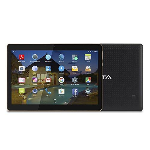 BEISTA Tablet de 10.1 Pulgadas (WiFi,Quad-Core,Android 5.1 Lollipop,HD IPS 1280x800,Doble Cámara,Doble Sim,OTG,GPS)- Color Negro