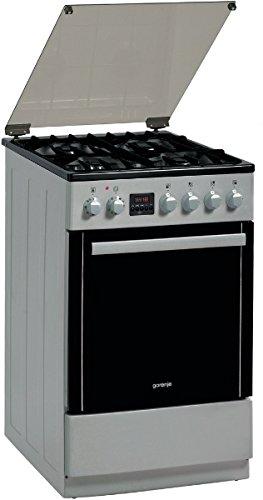 Gorenje CC700I Libera installazione Piano cottura a gas A Nero, Acciaio inossidabile cucina