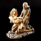 THREE Résine Créative Crâne Fantôme Et Beauté Statue Sexy Artisanat Figurines 2-Posture pour La Maison Bar Partie Bureau Ornement Décoratif Drôle Cadeau, Modèle B