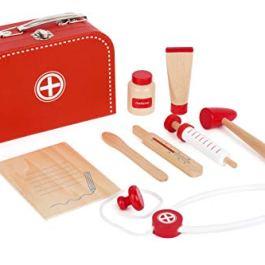 """11183 Set da gioco """"valigetta del dottore"""" small foot in legno, incl. siringa, stetoscop"""