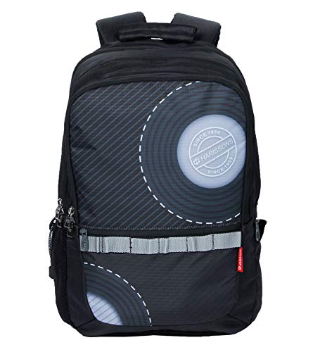 Harissons Bags Concent College Bag for Boys and Girls - Teenage Backpack for School and College (Black, Light Grey)
