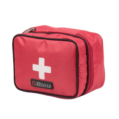 Bleu Durable Red Color First Aid Kit Bag (Medium, 8.25 x 6.5 Inches)
