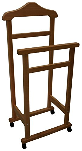 Appendiabiti Indossatore Porta Abiti in legno Noce marrone Servo Muto per camera
