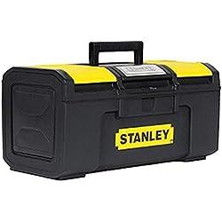 Stanley Werkzeugbox / Werkzeugkoffer Basic (49x27x24cm, Werkzeugorganizer mit Schnellverschluss, schwere Ausführung, Trolley mit ergonomischem Bi-Material Griff) 1-79-217