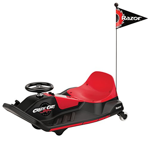 Razor Electric Go Kart - Crazy Cart Shift Kids Go Kart - Red