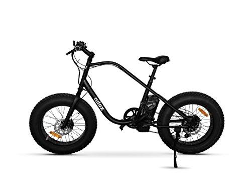 Nilox E Bike X3, Fat Bike Elettrica A Pedalata Assistita  - Adulto, Nero, Taglia Unica