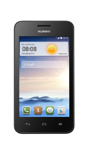 Huawei Ascend Y330 (Genuine UK Stock) Sim Free Smartphone - Black (4 inch, 1.3GHz dual core, 3.2mp camera, MicroSD up to 32GB)