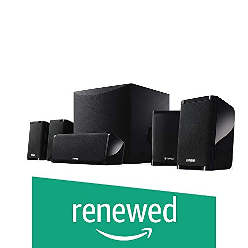 (Renewed) Yamaha NS-P41 Black 5.1 Channel Home Theatre Speaker Package (8 Inch Active Subwoofer)