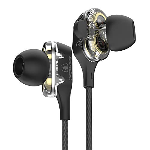 Cuffie Auricolari In-ear, Beexcellent Dual Dynamic Driver Bass Cuffie Cancellazione di Rumore Stereo...