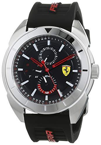 Scuderia Ferrari Orologio Multi-quadrante Quarzo Uomo con Cinturino in Silicone 830546