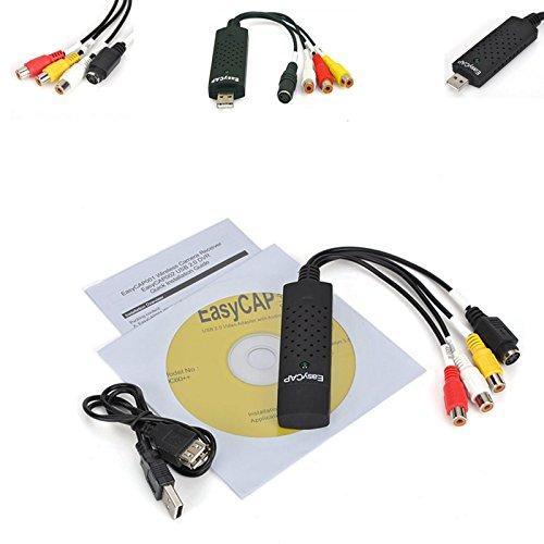 AlexVyan USB 2. 0 Easycap DC60-008 Tv Dvd VHS Video Adapter Audio AV Capture Support 10