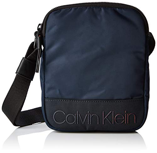 Calvin Klein - Shadow Mini Reporter, Shoppers y bolsos de hombro Hombre, Negro (Navy), 4x20x16 cm (B x H T)