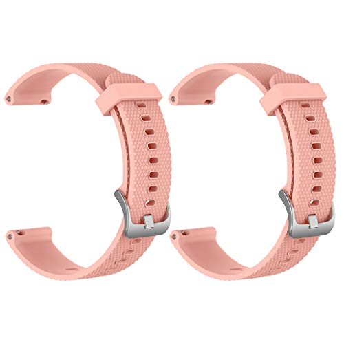 Beisoug Parte Superior 2PC Correa de muñeca con Banda de Reloj de Silicona para Deportes de reemplazo pequeño para Huawei Watch GT