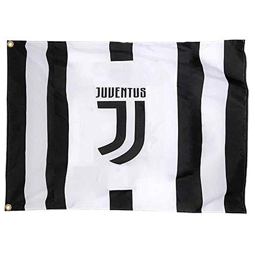FC Juventus - Bandiera ufficiale (serie A, 100% poliestere, 150 cm x 90 cm)