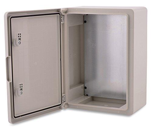 BOXEXPERT Quadro elettrico a parete scatola armadio 300x400x170mm IP 65 grigio RAL7035 scatola...