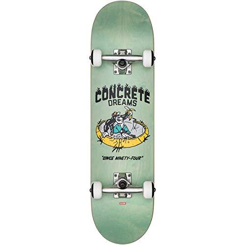Globe Bambini Concrete Dreams Mid Skateboard/Street Board, Breeze Green, 7.6MD